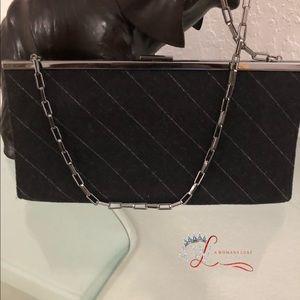 Banana Republic pinstripe clutch handbag